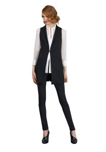 alice and olivia long shawl collar vest