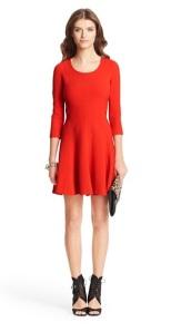 DVF Red Dress