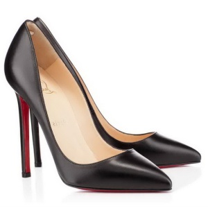 Classic Women Red Bottoms Heels Christian Louboutin Pigalle 120mm Black Kid Leather Pointed Toe Pumps