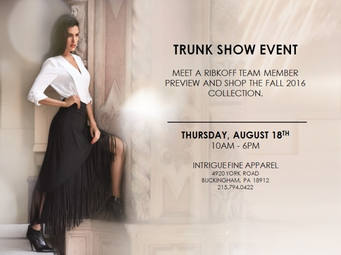 Robkoff Trunk Show 2016